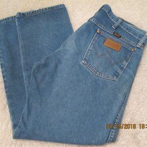 Wrangler Cowboy Cut Jeans 38x30 Rigid Indigo
